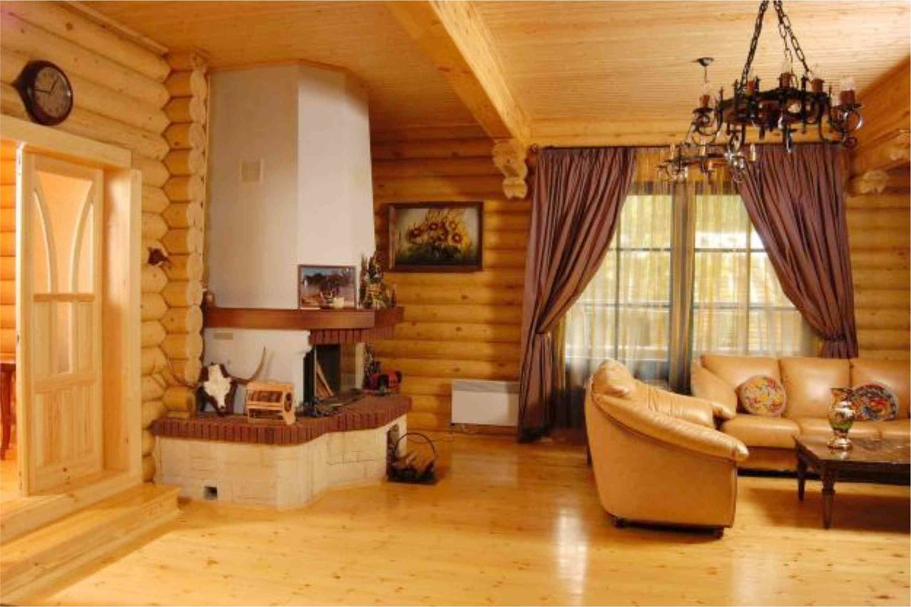 Дизайн стен в деревянном доме